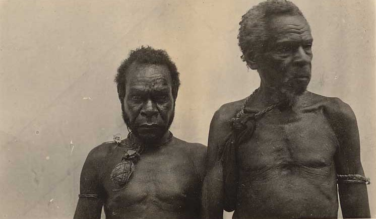 Cannibals, Papua, circa 1910 https://commons.wikimedia.org/wiki/File:Cannibals,_Papua.jpg