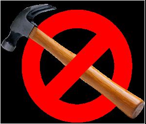 prohibido martillos